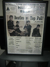 Beatles poster from front page of Mersey Beat paper 1962. 50cm x 71cm