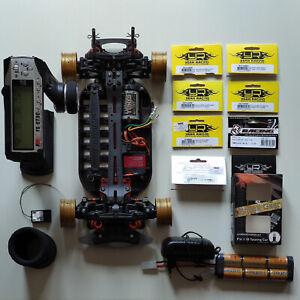 Tamiya TT-1 | Chassis mit Upgrades + Servo + Sender (GT3C) + Empfänger | ARTR
