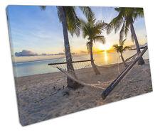 Amaca sulla spiaggia a Muro ARTE foto di grandi dimensioni 75 x 50 cm