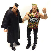 "WWF WWE TNA Wrestling Classics THE NASTY BOYS Tag Team Mattel 6"" figure toy set"