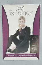 Terramar Hottotties Thermawool 4.0 BaseLayer S Purple Heather Wool Top Half Zip