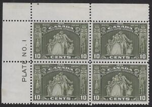 Canada, 1934 10¢ Loyalists Plate Block 1,Sc #209, Mint VF, H/OG, CV$240 - ow123