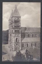 SWEDEN 1930 LUND CATHEDRAL REAL PHOTO POSTCARD RPPC MALMO TO BERLIN GERMANY