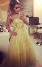 Yellow Puffy Dress Evening Prom Pageant Quinceanera belle Beauty & The Beast