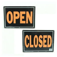 """10"""" X 14"""" """"Open / Closed"""" (Reversible) Metal Sign"""