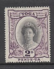 TONGA 1920-35 2d Black & Blackish Lilac. Die II. SG 57e.- Unmounted mint