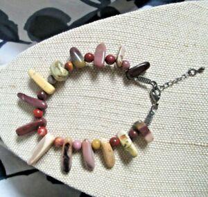 ~ Natural Mookaite Gemstone Bracelet ~ (N7)