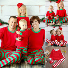 Family Matching Christmas Pajamas PJs Sets Xmas Sleepwear Nightwear UK STOCK
