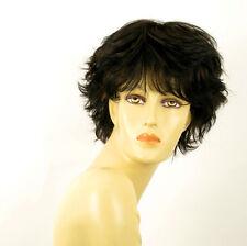 perruque femme 100% cheveux naturel carré méchée noir/cuivré NOELLE 1b30