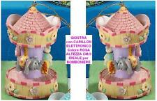 BOMBONIERA GIOSTRA CAVALLI con CARILLON ROSA CM.9 GG39
