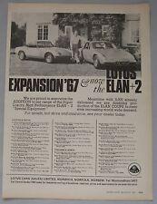 1967 Lotus Elan Original advert No.1