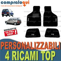 TAPPETI PER AUTOBIANCHI Y10 TAPPETINI AUTO SU MISURA + 4 DECORI TOP RICAMATI