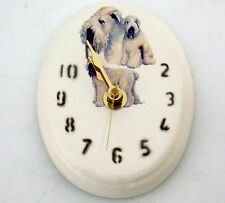 CERAMIC WALL CLOCK DOG PAINTINGS UNDER GLAZE