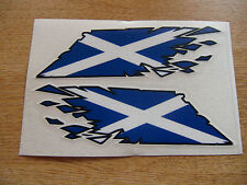 """Scottish Saltire Flag """"ripped"""" style stickers - 300mm decals x2 LARGE"""