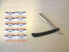 cut throat barber shop razor & 10 wilkinson sword shaving blades traditional DE