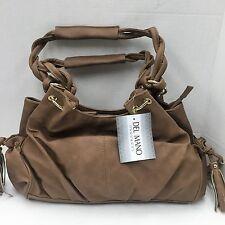 Del Mano Brown Taupe Purse Handbag Fringe