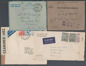 Collection of censor covers inc Not to be Taxed on Active service h/stamp.