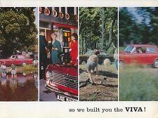 Vauxhall Viva HA 1964-65 Original UK Colour Foldout Sales Brochure No. V1528