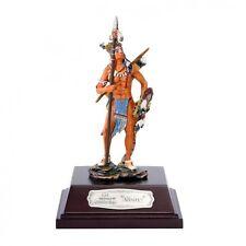 Nürnberger Meisterzinn 20000 Deko Figur Indianer Sioux stehend mit Speer 10cm