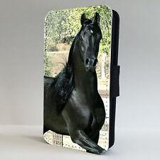 Stunning Black Arabian Horse FLIP PHONE CASE COVER fits all IPHONE & SAMSUNG