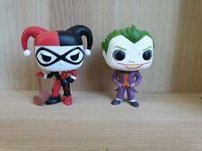 FUNKO Pop Vinyl Set Harley Quinn With Mallet (45) And Arkham Asylum Joker (53)