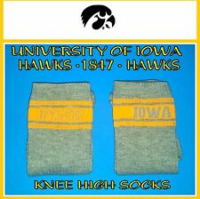 VICTORIA'S SECRET PINK KNEE HIGH SOCKS UNIVERSITY OF IOWA HAWKS BNIP 1PR NEW