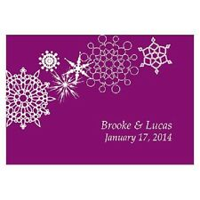24pk Personalized Winter Finery Large Rectangular Tags Wedding Favors