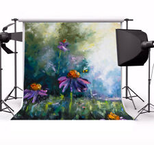 6x6FT Oil Painting Photography Background Flowers Blooming Studio Photo Backdrop