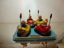 VINTAGE BUMPER CAR TRACK - BUN BUN CAR - RED + YELLOW - BATTERY - GOOD CONDITION