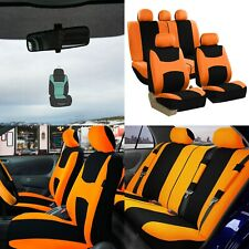 Car Seat Covers Light & Breezy Flat Cloth Seat Covers Full Set w/ Air Freshener