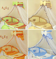 STUNNING  BABY COT / COTBED CANOPY DRAPE & HOLDER   270cm wide