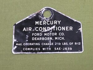 Mercury  Air Conditioning Compressor Tag