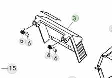 More details for genuine john deere r43rve roller lawnmower sa816 grass deflector sa36193