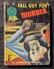 1943 FALL GUY FOR MURDER by Lawrence Goldman VG- Prize Mystery #6 Paperback