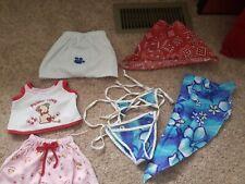Build A Bear Clothes Lot Of 7: swim suit, pajamas, robe, bandanas