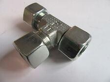 16mm M24 x 1.5 - Swivel Branch Tee Hydraulic Compression Fitting 500 Bar #24A120