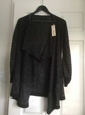 DIESEL Cardigan Ladies XS Black & Charcoal Open Front BNWT  RRP £130