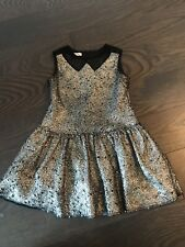 I Pinco Pallino Black Gold Girl Dress Size 4
