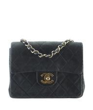 Chanel Classic Mini Square Black Leather Shoulder Bag
