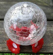 Hummingbird feeder Crackled glass