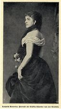 Leopold Horovitz* Portät der Gräfin Günther von der Groeben Bilddokument v.1901