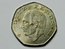 Mexico 1977 10 PESOS Mexican Rebel Hero Hidalgo Coin with Lustre & Tone Spots