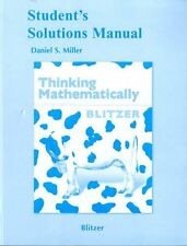 Students Solutions Manual for Thinking Mathematically, 5th Edition by Robert F.