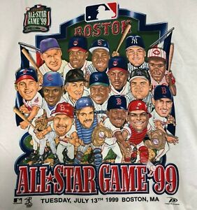 Vintage 1999  Boston Red Sox All Star Game Double Sided XL T-Shirt NEW With Tags
