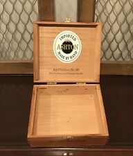 ASHTON WOOD Hinged Cigar Box Aged Maduro DOMINICAN REPUBLIC No. 20 EMPTY
