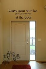Leave your worries {and your shoes} at the d  Vinyl Wall Art Quote Decal Sticker