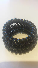 Large Black Spiral Durable Stretchy Hair Bands Hairband Bobbles X 3 X 6cm