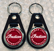 INDIAN MOTORCYCLE keychain 2 pack red and white