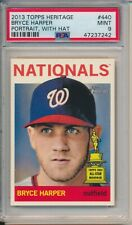 Bryce Harper 2013 Topps Heritage Portrait With Hat #440 PSA 9 Nationals 2nd Year