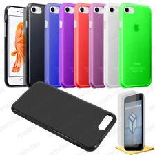 Funda carcasa + 2 PROTECTOR PANTALLA para iPhone 8 GEL TPU Liso Mate Colores